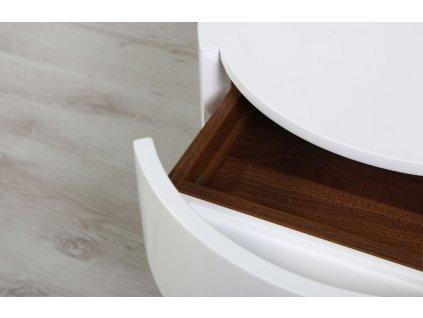 Bílý kulatý konferenční stolek Miotto Ardea s nerezovou podnoží 53 cm