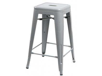 Šedá kovová barová židle Tolix 66 cm