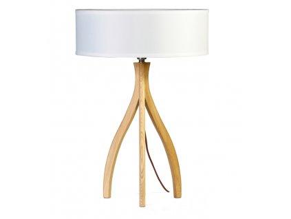 Bílá jasanová stolní lampa Medusa Grande
