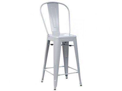 Designová šedá barová židle Tolix z kvalitního kovu
