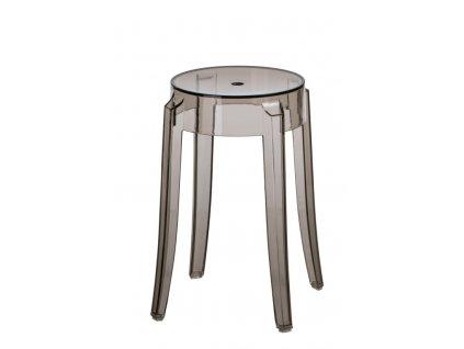 Designová plastová stolička Ghost 46 transparentní kouřová