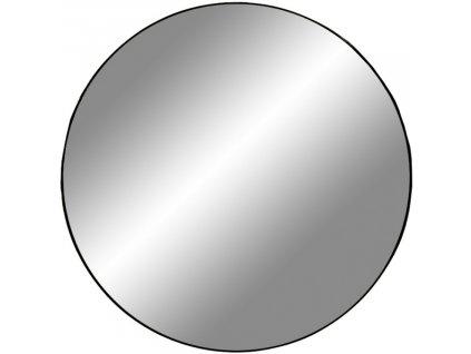 Černé kulaté závěsné zrcadlo Vincent 80 cm