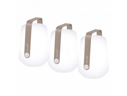 Set tří muškátově šedých venkovních lamp Fermob Balad 13,5 cm