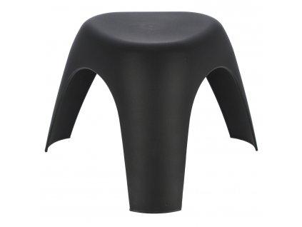 Černá plastová stolička Elephant 37 cm