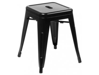 Černá kovová stolička Tolix 45 cm