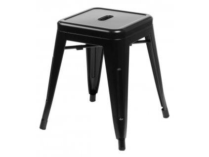 Černá celokovová stolička Tolix 46