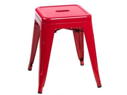 Červená celokovová stolička Tolix 46