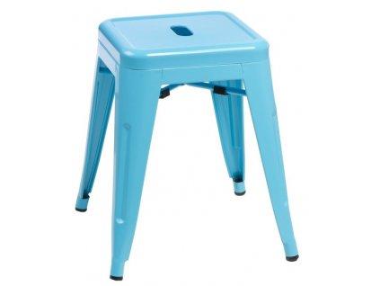 Modrá celokovová stolička Tolix 46
