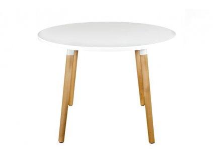 Bílý jídelní stůl Berg průměr 100 cm