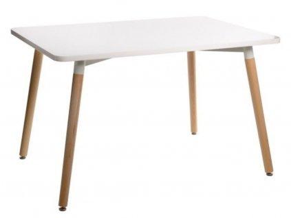 Bílý jídelní stůl Berg 120 x 80 cm