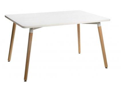 Bílý jídelní stůl Berg 160 x 80 cm