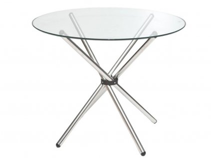 Skleněný kulatý jídelní stůl Ufo 90 cm