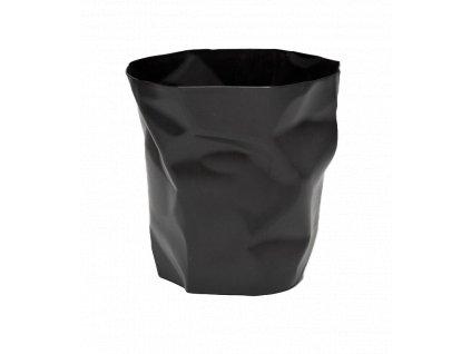 Černý odpadkový koš Crum