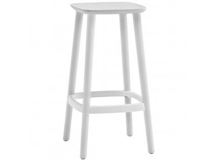 Bílá dřevěná barová židle Babila 2702 65 cm