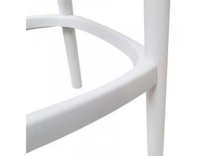 Bílá dřevěná barová židle Babila 2702