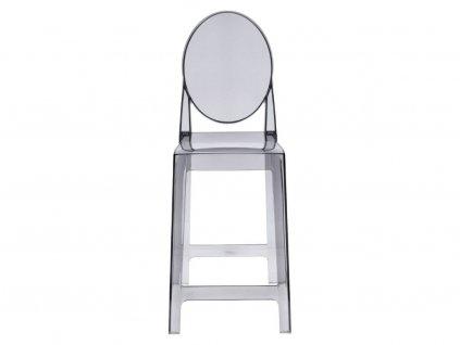 Kouřová plastová barová židle Ghost