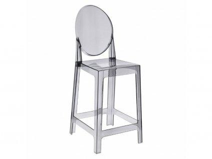 Šedá plastová barová židle Ghost 65 cm