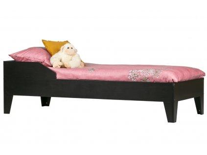 Černá masivní borovicová postel Rea 90 x 200 cm