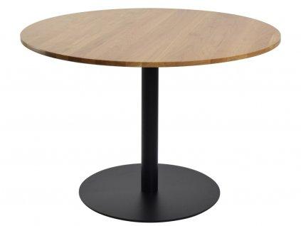 Přírodní kulatý jídelní stůl FormWood Aida