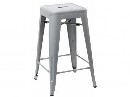 Designová šedivá barová židle Tolix 75 kovová