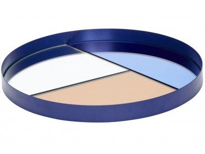 Modro meruňkový zrcadlový podnos Hübsch Dowling 35 cm