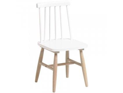 Bílá dřevěná dětská jídelní židle LaForma Kristie