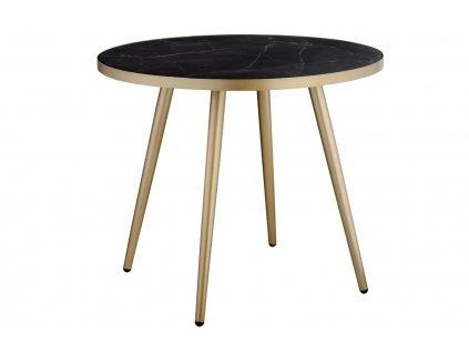 Černo zlatý skleněný konferenční stolek RGE Shine 50 cm