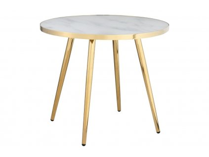 Bílo zlatý skleněný konferenční stolek RGE Shine 50 cm