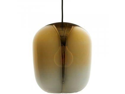 Zlato šedé skleněné závěsné světlo Frandsen Ombre Ø 35 cm
