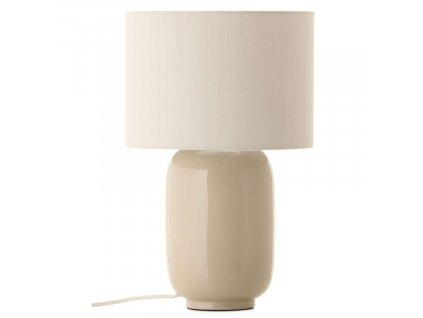 Béžová látková stolní lampa Frandsen Cádiz
