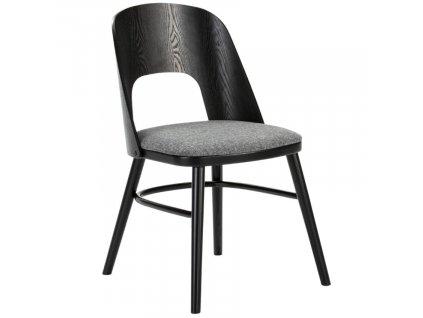 Černá jasanová jídelní židle Marckeric Bruxelles