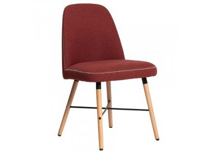 Červená látková jídelní židle Marckeric Cancun