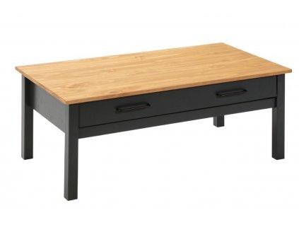 Modro šedý borovicový konferenční stolek Marckeric Miranda 100 x 55 cm