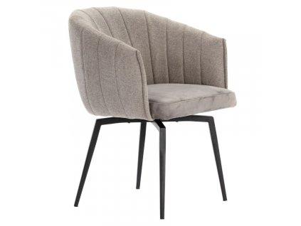 Světle šedá látková jídelní židle Marckeric Carina