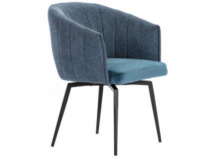 Modrá látková jídelní židle Marckeric Carina