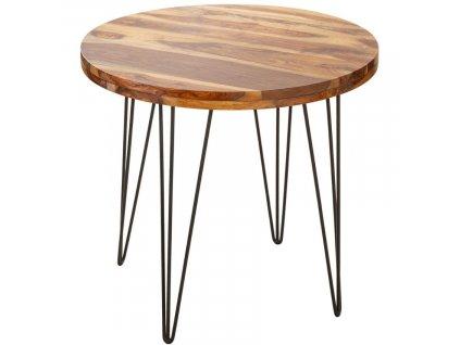 Masivní sheeshamový jídelní stůl Rubik 80 cm