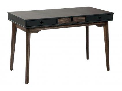 Antracitově šedý dřevěný psací stůl Marckeric Kiara 120 x 60 cm