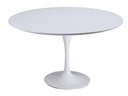 Bílý kulatý jídelní stůl Tulip 120 cm