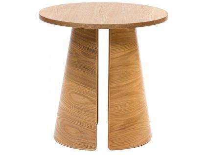 Jasanový kulatý odkládací stolek Teulat Cep 50 cm
