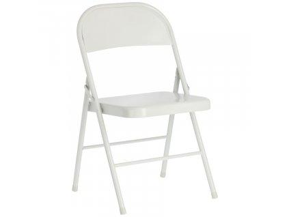 Světle šedá kovová skládací jídelní židle LaForma Aidana