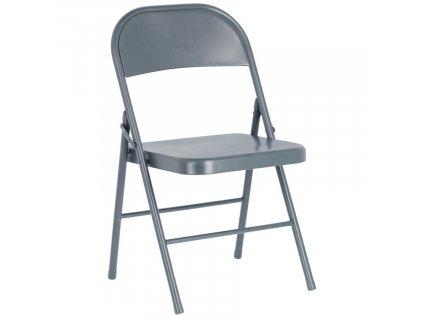 Tmavě šedá kovová skládací jídelní židle LaForma Aidana
