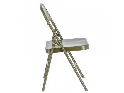 Tmavě zelená kovová skládací jídelní židle LaForma Aidana