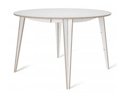 Bílý kulatý jídelní stůl Tabanda ROUND MACIEK 100 cm