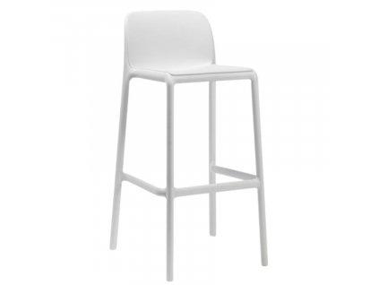 Bílá plastová barová židle Faro 76 cm