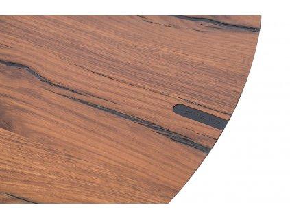 Hnědý dubový odkládací stolek Marco Barotti 45 cm