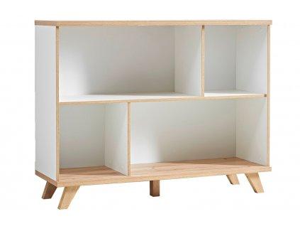 Bílá dřevěná knihovna Germania Oslo 3267 91 x 120 cm