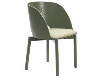 Zelená jasanová jídelní židle Teulat Dam