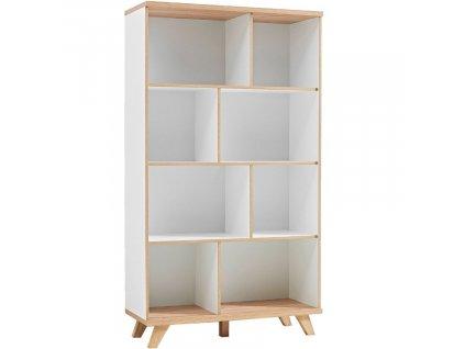 Bílá dřevěná knihovna Germania Oslo 3268 166 x 96 cm