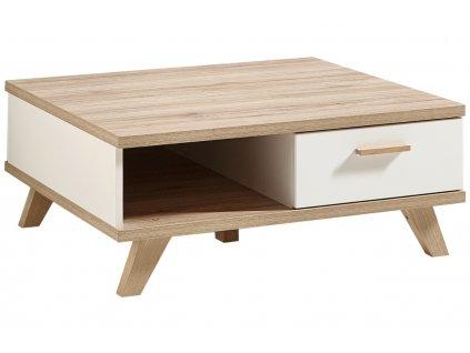 Bílý dřevěný konferenční stolek Germania Oslo 2292 80 x 80 cm