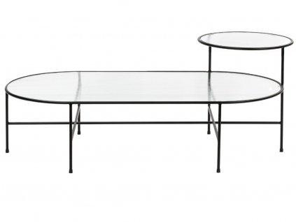 Černý kovový konferenční stolek Teulat Nix 120 x 60 cm